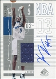 2002/03 Upper Deck SP Game Used Autographed Jerseys #102 Kwame Brown /100