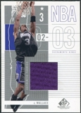 2002/03 Upper Deck SP Game Used All-Star Apparel #GWAS Gerald Wallace