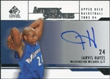 2003/04 Upper Deck SP Signature Edition Signatures #JH Jarvis Hayes Autograph