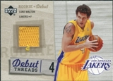 2005/06 Upper Deck Rookie Debut Threads #LW Luke Walton