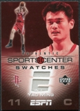 2005/06 Upper Deck ESPN Sports Center Swatches #YM Yao Ming
