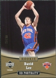 2005/06 Upper Deck UD Portraits 30 #111 David Lee /30