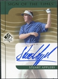 2003 Upper Deck SP Authentic Sign of the Times #SA Stuart Appleby Autograph
