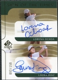 2003 Upper Deck SP Authentic Sign of the Times Dual #LOLD Lorena Ochoa Laura Diaz Autograph /150