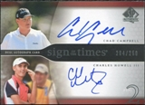 2004 Upper Deck SP Authentic Sign of the Times Dual #CCCH Chad Campbell Charles Howell III Autograph /250