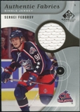 2005/06 Upper Deck SP Game Used Authentic Fabrics #AFSF Sergei Fedorov