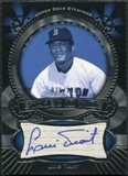 2004 Upper Deck Etchings Etched in Time Autograph Blue #LT Luis Tiant /250