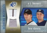 2005 Upper Deck SPx Winning Materials Dual Jersey #BS A.J. Burnett Ben Sheets /20