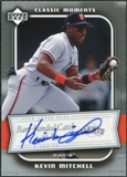 2005 Upper Deck Classics Moments Signatures #KM Kevin Mitchell T3 Autograph