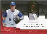 2005 Upper Deck Ultimate Collection Materials Patch #HB Hank Blalock /25