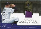 2005 Upper Deck Ultimate Collection Materials Patch #JF Jeff Francis /25
