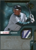 2005 Upper Deck Ultimate Collection Sluggers Patch #CC Carl Crawford /25