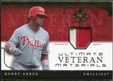 2005 Upper Deck Ultimate Collection Veteran Materials Patch #BA Bobby Abreu /30