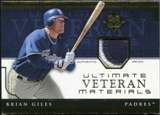 2005 Upper Deck Ultimate Collection Veteran Materials Patch #BG Brian Giles /30