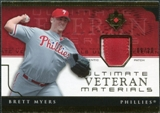 2005 Upper Deck Ultimate Collection Veteran Materials Patch #BM Brett Myers /30