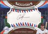 2006 Upper Deck Sweet Spot Signatures Red-Blue Stitch Black Ink #133 Corey Patterson /99