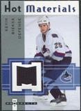 2005/06 Fleer Hot Prospects Hot Materials #HMBI Kevin Bieksa