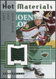 2005/06 Fleer Hot Prospects Hot Materials #HMMF Matt Foy