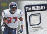 2006 Upper Deck Rookie Debut Star Materials Silver #SMDD Domanick Davis