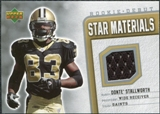 2006 Upper Deck Rookie Debut Star Materials Silver #SMDS Donte Stallworth