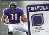 2006 Upper Deck Rookie Debut Star Materials Silver #SMJL Jamal Lewis