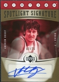 2006/07 Upper Deck Ovation Spotlight Signature Gold #AB Andrew Bogut Auto /25