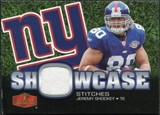 2006 Flair Showcase Showcase Stitches Jersey #SHSJS Jeremy Shockey
