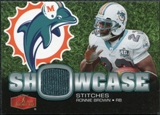 2006 Flair Showcase Showcase Stitches Jersey #SHSRB Ronnie Brown