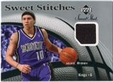 2006/07 Upper Deck Sweet Shot Stitches #MB Mike Bibby