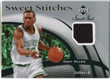 2006/07 Upper Deck Sweet Shot Stitches #TA Tony Allen