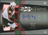 2006/07 Upper Deck Hot Prospects Hotagraphs #HMF Matt Foy Autograph