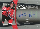 2006/07 Upper Deck Hot Prospects Hotagraphs #HSG Scott Gomez Autograph