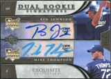 2006 Upper Deck Exquisite Collection #78 Ben Johnson Mike Thompson RC Autograph /55