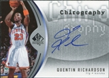 2006/07 Upper Deck SP Authentic Chirography #QR Quentin Richardson Autograph
