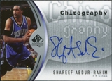 2006/07 Upper Deck SP Authentic Chirography #SA Shareef Abdur-Rahim Autograph