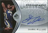 2006/07 Upper Deck SP Authentic Chirography #SW Shawne Williams Autograph