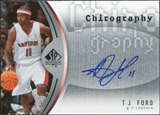 2006/07 Upper Deck SP Authentic Chirography #TF T.J. Ford Autograph