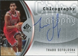 2006/07 Upper Deck SP Authentic Chirography #TS Thabo Sefolosha Autograph