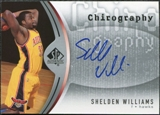 2006/07 Upper Deck SP Authentic Chirography #WI Shelden Williams Autograph
