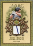 2007 Upper Deck Artifacts MLB Apparel #HE Todd Helton /199