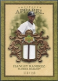 2007 Upper Deck Artifacts MLB Apparel #HR Hanley Ramirez 110/199