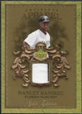 2007 Upper Deck Artifacts MLB Apparel Gold #HR Hanley Ramirez
