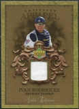 2007 Upper Deck Artifacts MLB Apparel Gold #IR Ivan Rodriguez