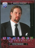 2006/07 Upper Deck Be A Player Up Close and Personal #UC46 Peter Forsberg /999