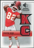 2007 Upper Deck SP Rookie Threads Silver #RTDB2 Dwayne Bowe