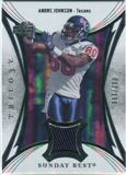2007 Upper Deck Trilogy Sunday Best Jersey Silver #AJ Andre Johnson /199