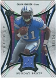 2007 Upper Deck Trilogy Sunday Best Jersey Silver #CJ Calvin Johnson /199