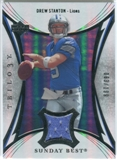 2007 Upper Deck Trilogy Sunday Best Jersey Silver #DS Drew Stanton /199
