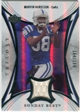 2007 Upper Deck Trilogy Sunday Best Jersey Silver #MH Marvin Harrison /199