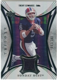 2007 Upper Deck Trilogy Sunday Best Jersey Silver #TE Trent Edwards /199